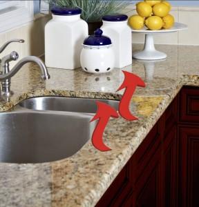 Heated sink edge